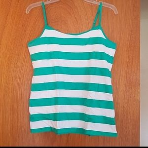 New Women's Green & White Stripped Camisole